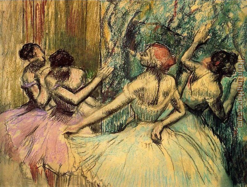 Dancers in the Wings painting - Edgar Degas Dancers in the Wings art painting