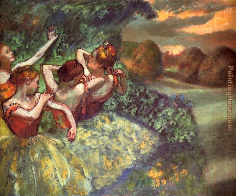 Four Dancers painting - Edgar Degas Four Dancers art painting