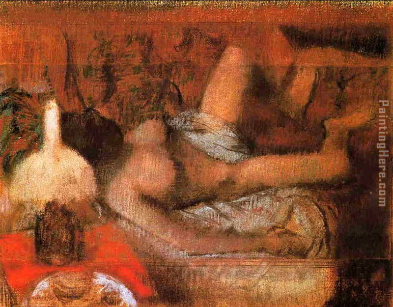 Reclining Nude painting - Edgar Degas Reclining Nude art painting