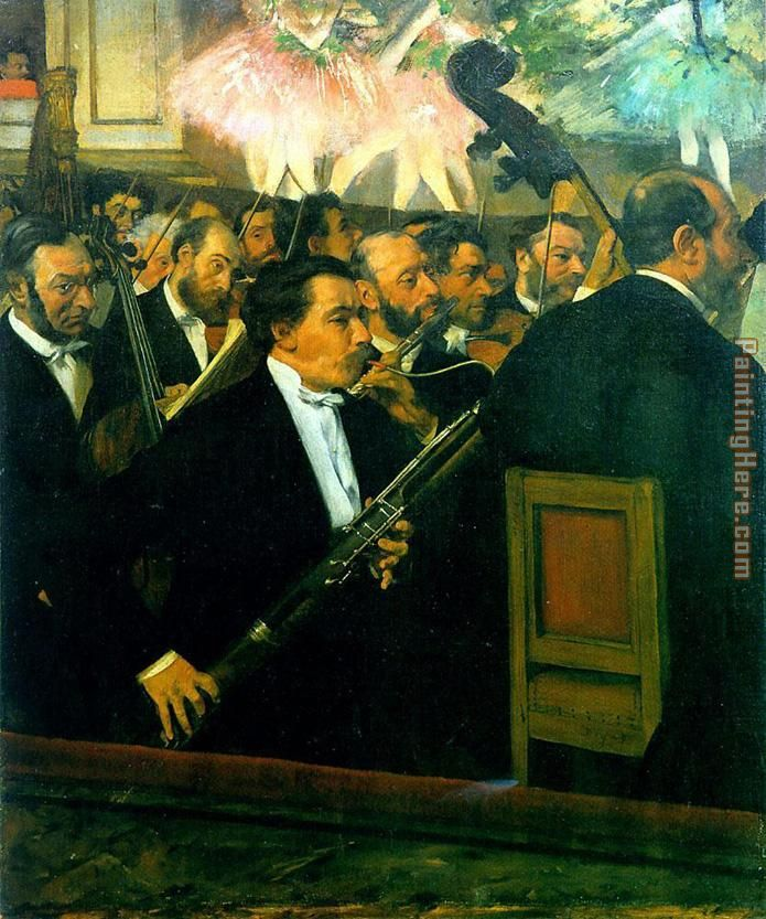 The Orchestra of the Opera painting - Edgar Degas The Orchestra of the Opera art painting