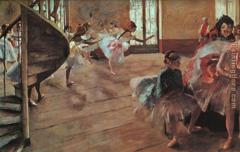 Edgar Degas The Rehearsal Art Painting