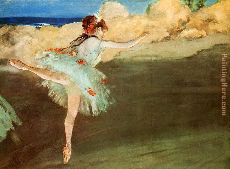 The Star - Dancer on Pointe painting - Edgar Degas The Star - Dancer on Pointe art painting