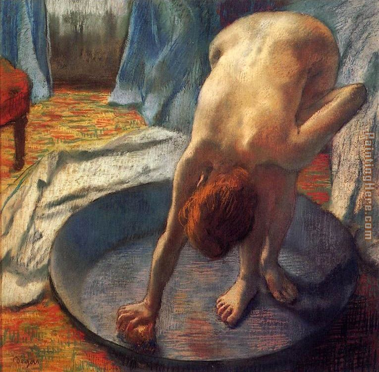 The Tub I painting - Edgar Degas The Tub I art painting
