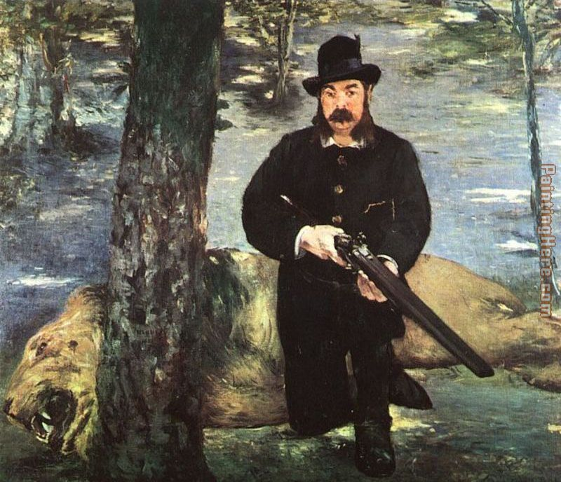 Pertuiset, Lion Hunter painting - Edouard Manet Pertuiset, Lion Hunter art painting