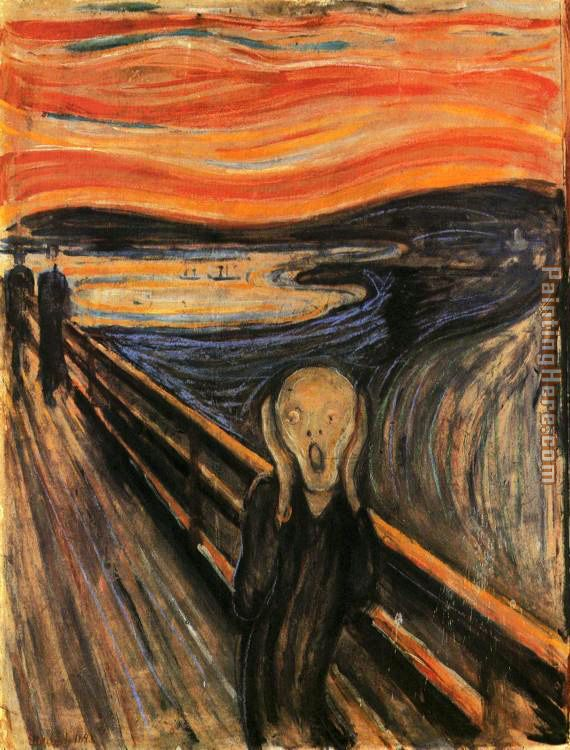 The Scream painting - Edvard Munch The Scream art painting