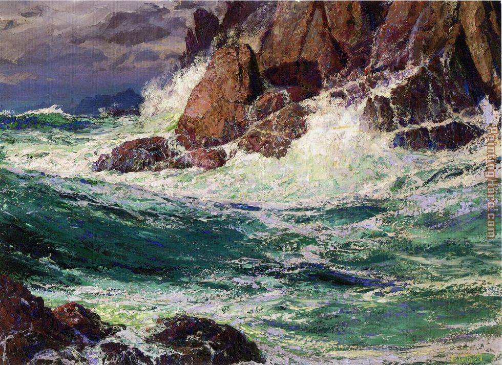 Stormy Seas painting - Edward Henry Potthast Stormy Seas art painting