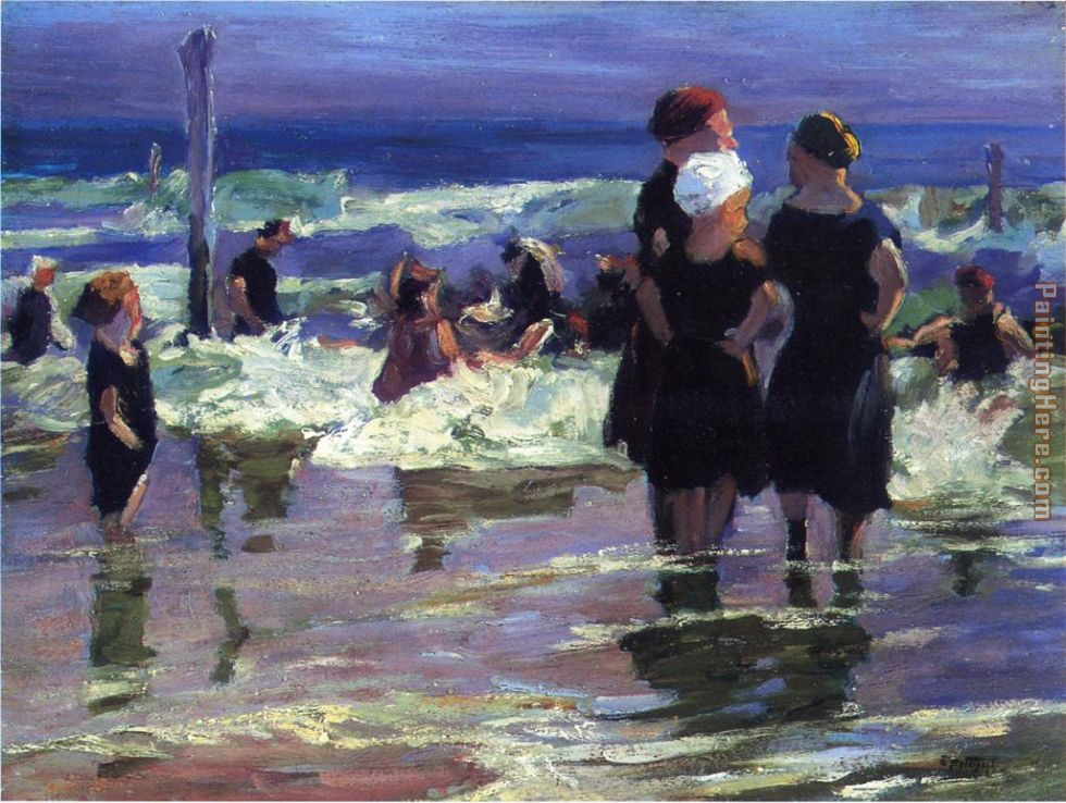 The Gossips painting - Edward Henry Potthast The Gossips art painting