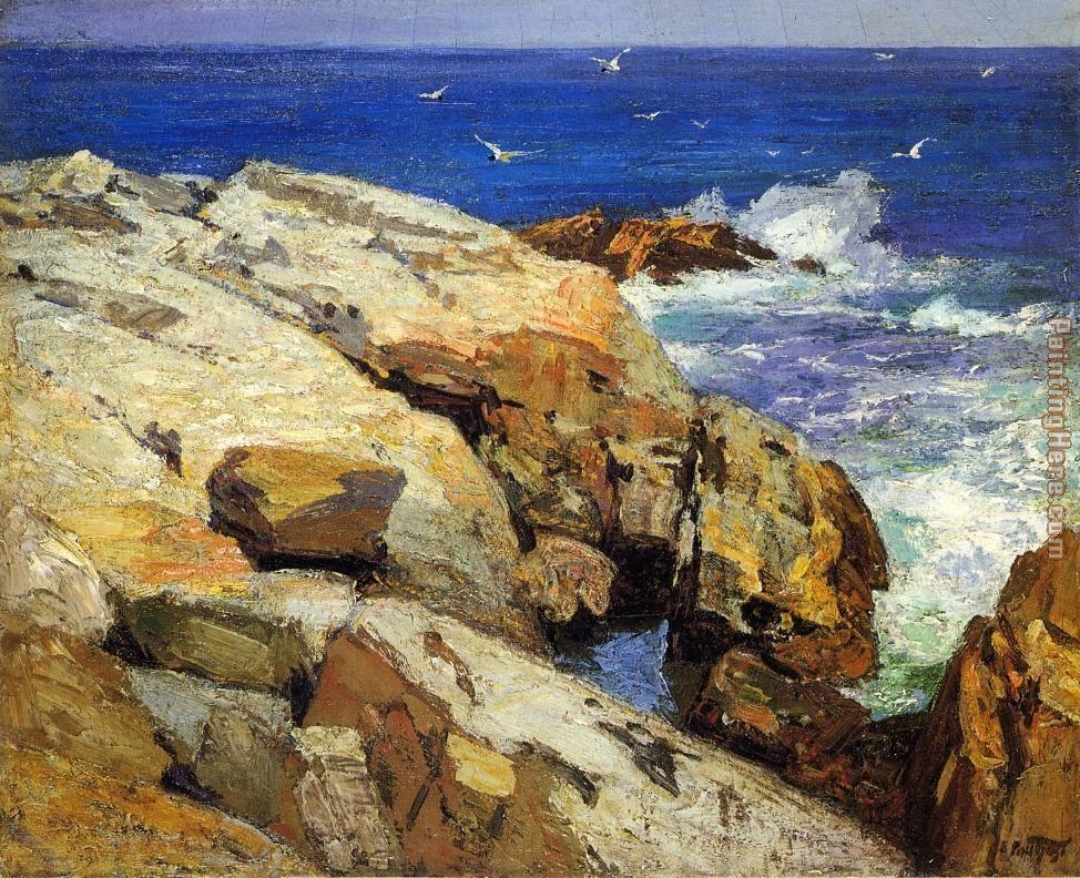 Edward Henry Potthast The Maine Coast Painting Anysize 50 Off The Maine Coast Painting For Sale