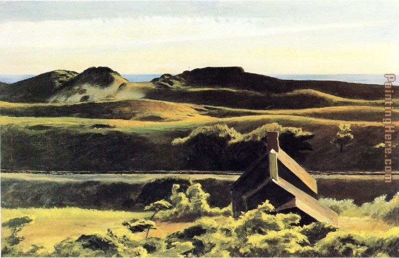 Hills South Truro painting - Edward Hopper Hills South Truro art painting