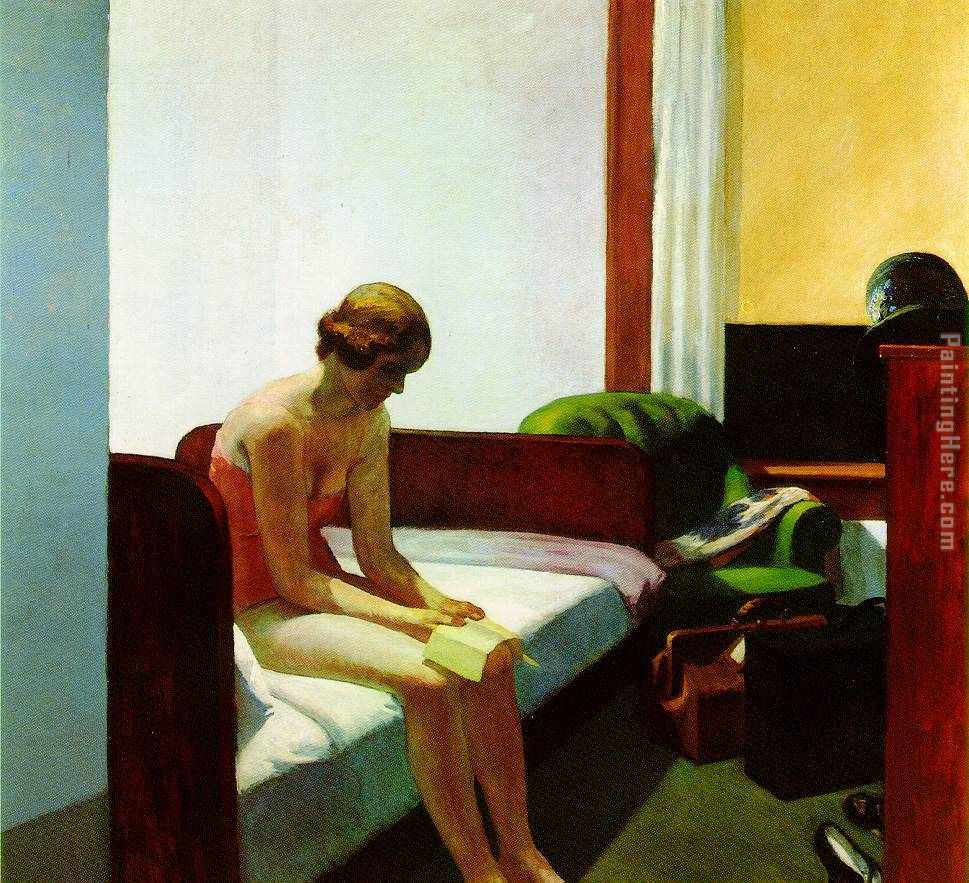 Hotel Room painting - Edward Hopper Hotel Room art painting