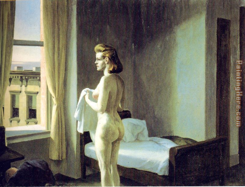 Morning in a City painting - Edward Hopper Morning in a City art painting