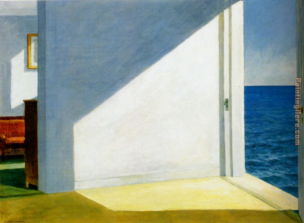 Rooms by the sea painting - Edward Hopper Rooms by the sea art painting