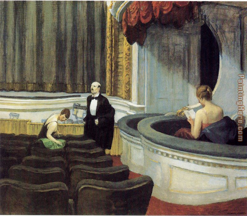 Two on the Aisle painting - Edward Hopper Two on the Aisle art painting