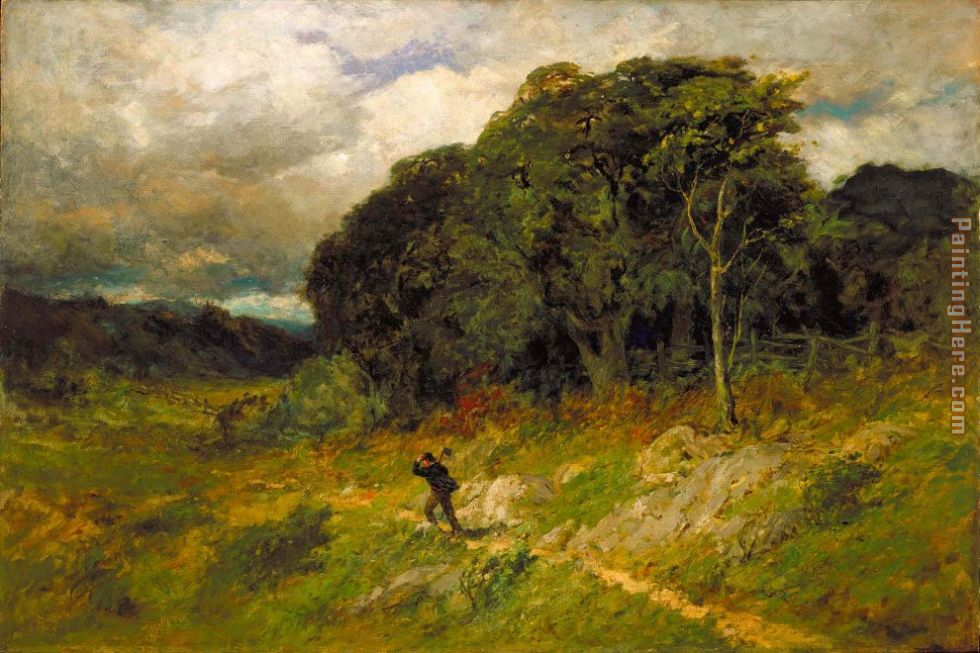Edward Mitchell Bannister Approaching Storm Art Painting