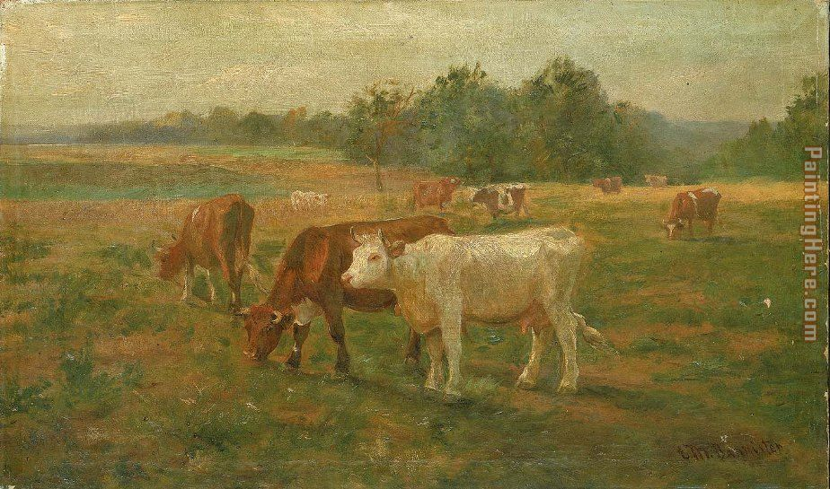 Cows painting - Edward Mitchell Bannister Cows art painting