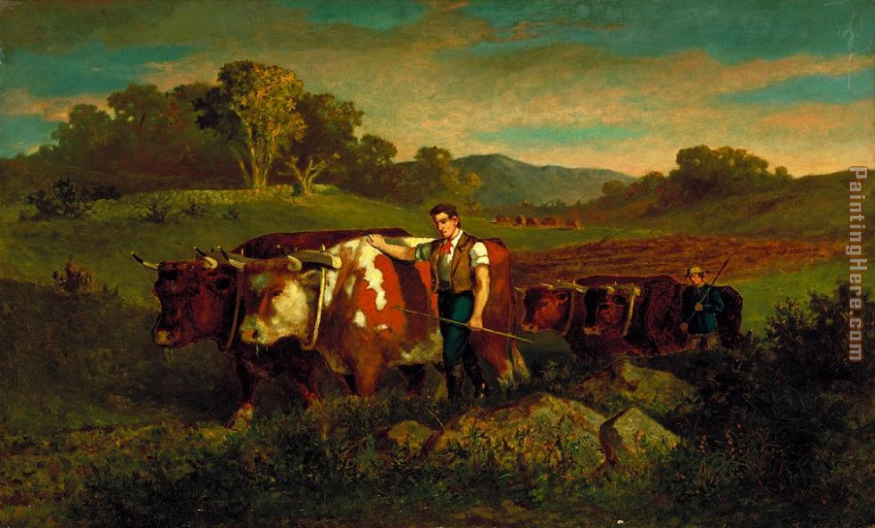 Herdsmen with Cows painting - Edward Mitchell Bannister Herdsmen with Cows art painting