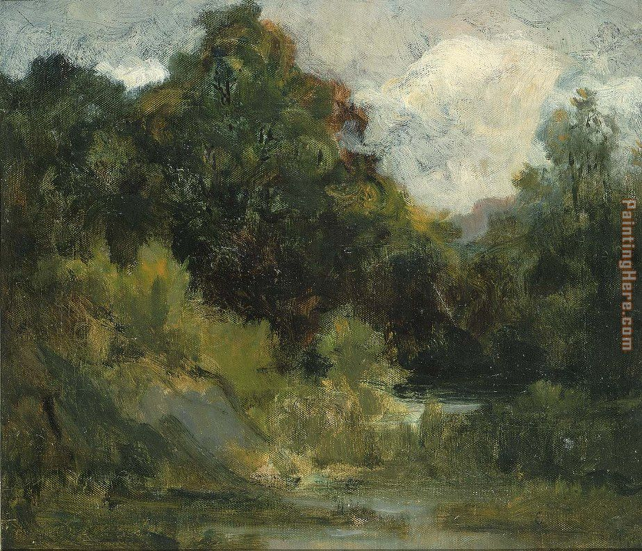 Edward Mitchell Bannister Landscape (trees) Art Painting