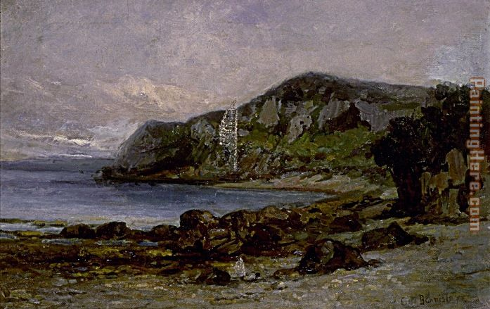 Edward Mitchell Bannister Rocks at Newport Art Painting