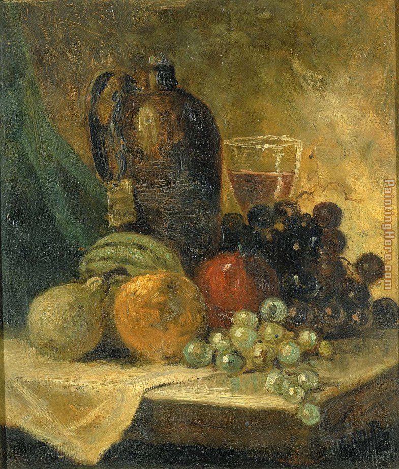 Still Life painting - Edward Mitchell Bannister Still Life art painting