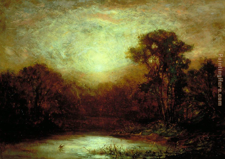 Sunset painting - Edward Mitchell Bannister Sunset art painting