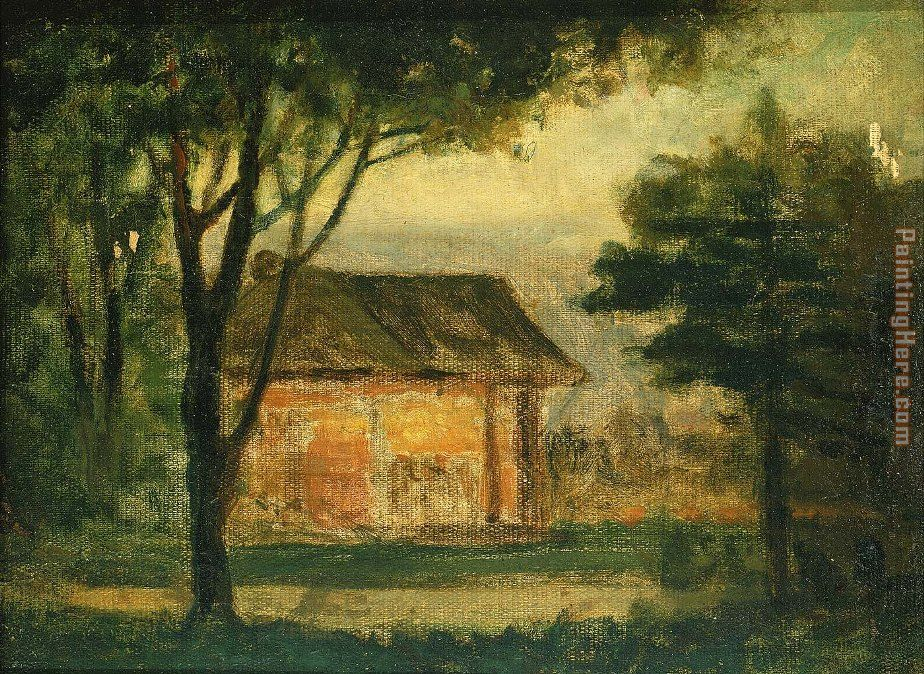 The Old Homestead painting - Edward Mitchell Bannister The Old Homestead art painting