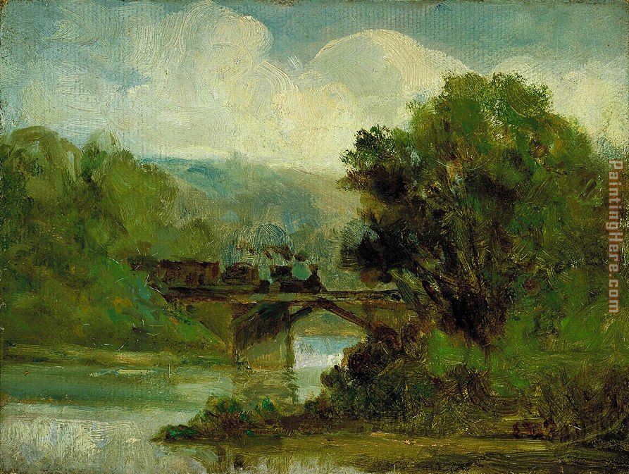 Train painting - Edward Mitchell Bannister Train art painting