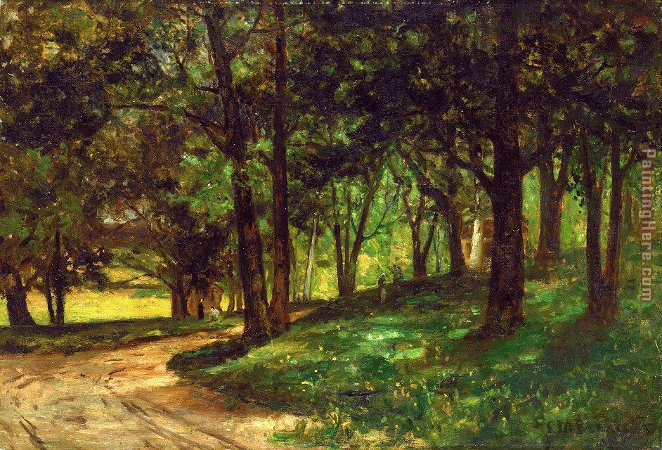 landscape with trees painting - Edward Mitchell Bannister landscape with trees art painting