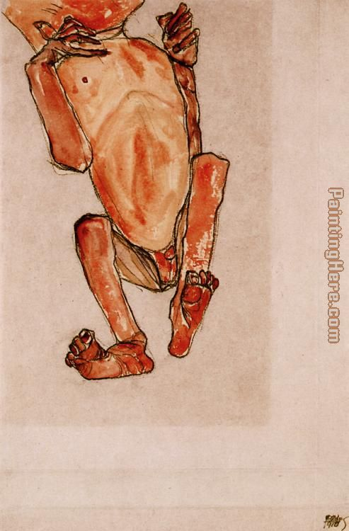 Nude baby painting - Egon Schiele Nude baby art painting