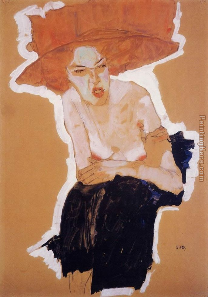 The Scornful Woman Gertrude Schiele painting - Egon Schiele The Scornful Woman Gertrude Schiele art painting