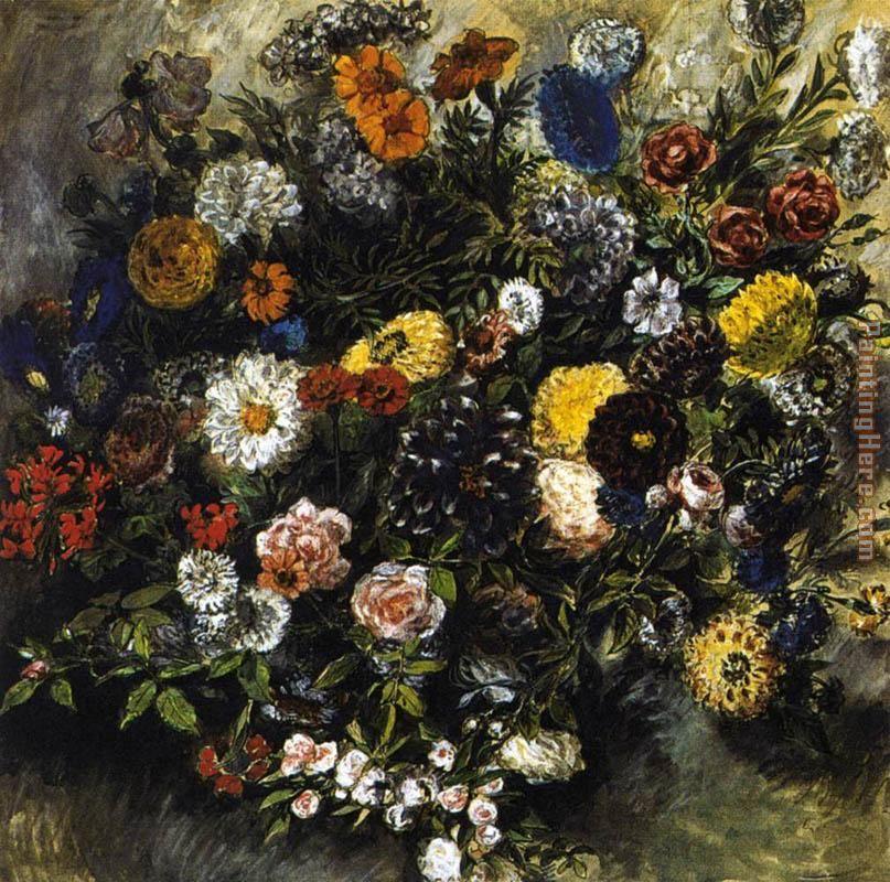 Eugene Delacroix Bouquet of Flowers painting anysize 50% off ...