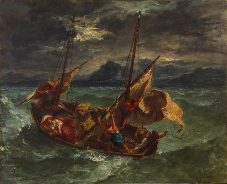 Eugene Delacroix Christ on the Sea of Galilee Walters Art Painting