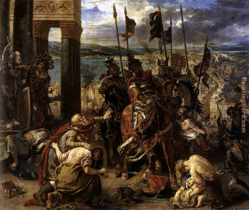 The Entry of the Crusaders into Constantinople painting - Eugene Delacroix The Entry of the Crusaders into Constantinople art painting