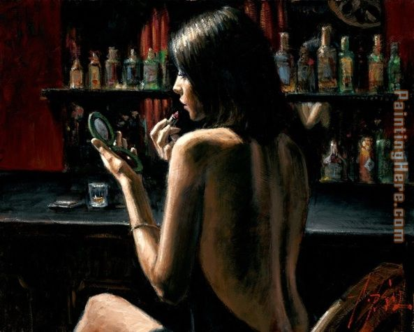 Anna at the Bar painting - Fabian Perez Anna at the Bar art painting