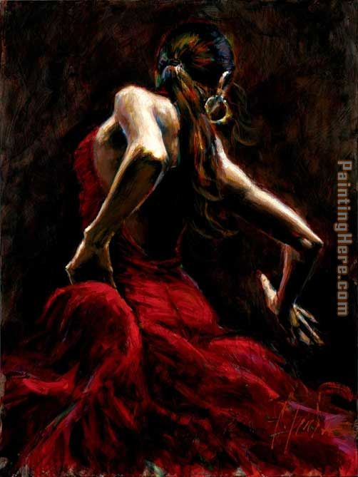 Dancer in Red painting - Fabian Perez Dancer in Red art painting