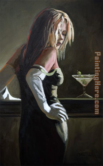 Fabian Perez Dirty Martini Art Painting