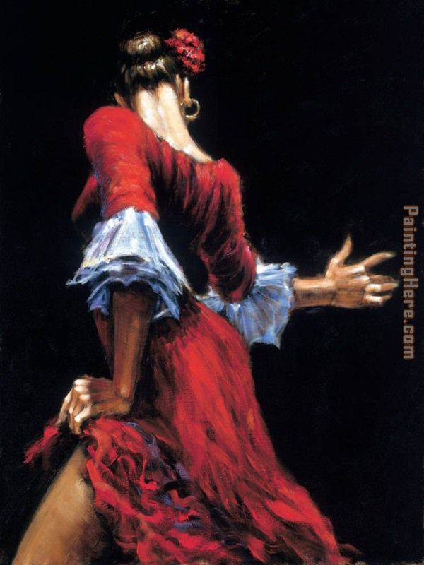 Flamenco Dancer II painting - Fabian Perez Flamenco Dancer II art painting