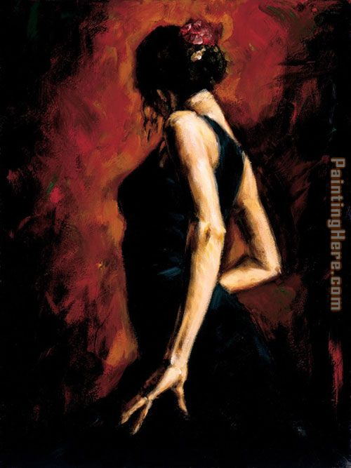 Flamenco painting - Fabian Perez Flamenco art painting