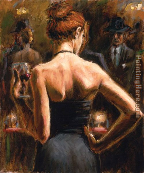 Fabian Perez Girl with Red Hair Art Painting