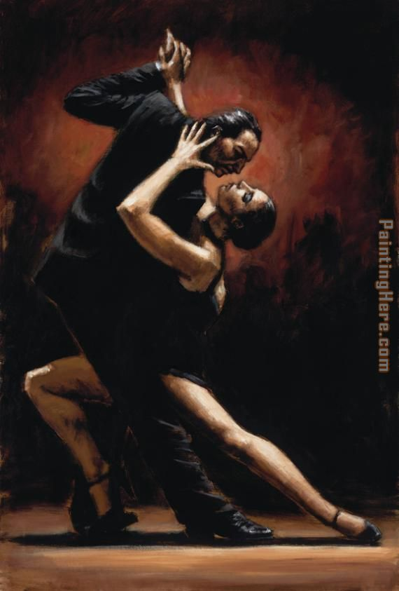 LOVE OF TANGO painting - Fabian Perez LOVE OF TANGO art painting