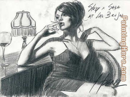 Study For Saba At Las Brujas painting - Fabian Perez Study For Saba At Las Brujas art painting
