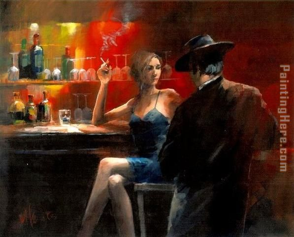 Untitled iii painting - Fabian Perez Untitled iii art painting