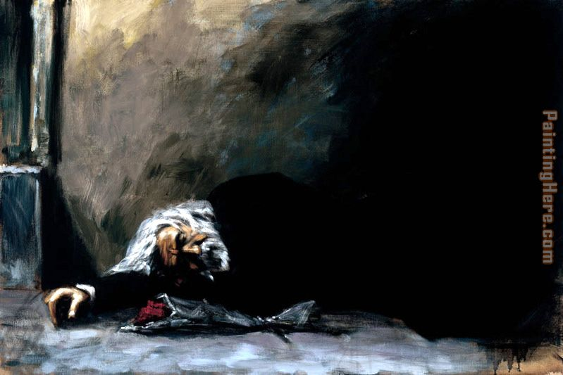 Waiting For the Romance to Come Back II painting - Fabian Perez Waiting For the Romance to Come Back II art painting