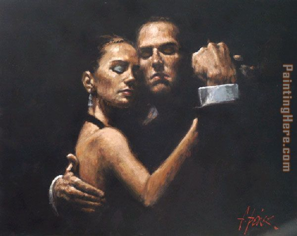 the face of tango ii painting - Fabian Perez the face of tango ii art painting