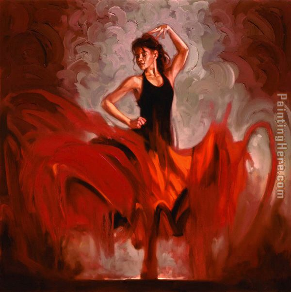 Crescendo I painting - Flamenco Dancer Crescendo I art painting