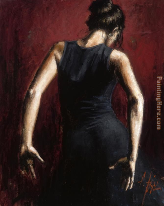El Baile del Flamenco en Rojo II painting - Flamenco Dancer El Baile del Flamenco en Rojo II art painting