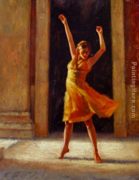 Passion painting - Flamenco Dancer Passion art painting