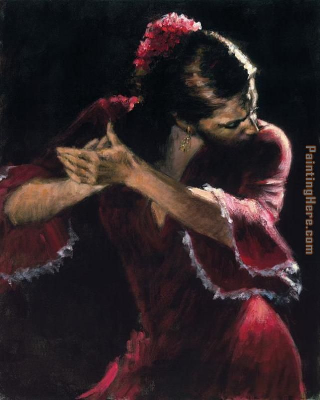 Flamenco Dancer Study for Flamenco Art Painting