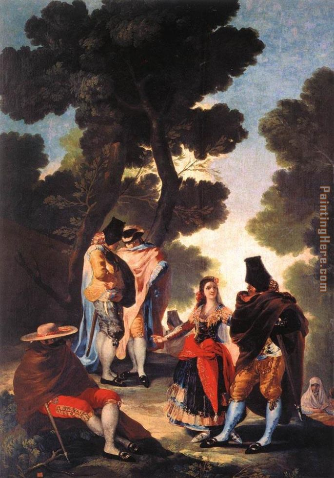 A Walk in Andalusia painting - Francisco de Goya A Walk in Andalusia art painting
