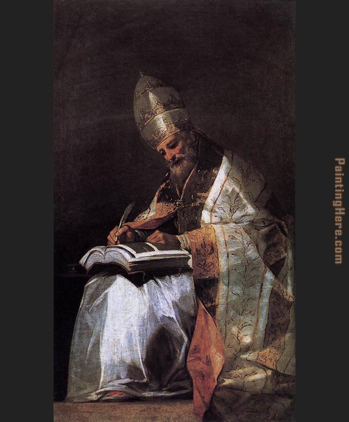 St Gregory painting - Francisco de Goya St Gregory art painting