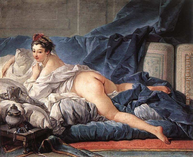 Brown Odalisque painting - Francois Boucher Brown Odalisque art painting